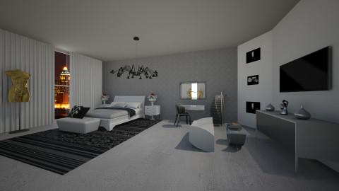 Dark - Minimal - Bedroom  - by Williber Cruz