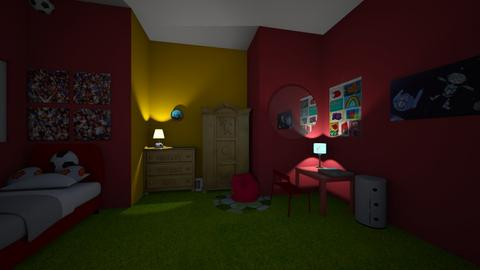 childrens football room - Kids room  - by goldenfang11