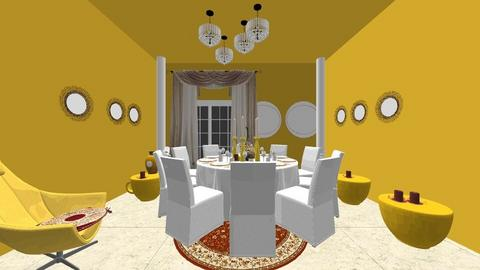 yellow room - Dining room  - by asifgoldpk