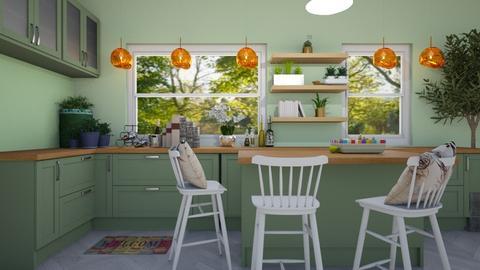 Green Kitchen - Minimal - Kitchen  - by reaganiscool