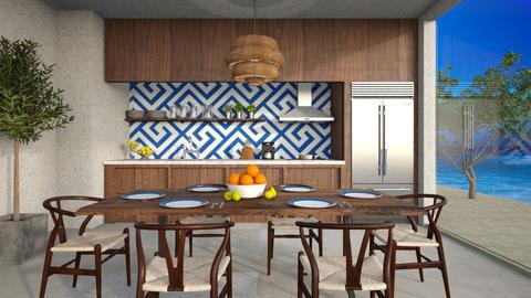 KitchenDiningGreece - Kitchen  - by djoleitaca
