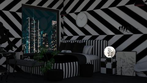 Teenage Room BW - Modern - Bedroom  - by Twice and Bp