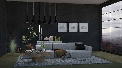 Rainy Living room - Modern - Living room  - by Isaacarchitect