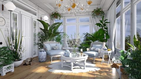 Shabby Chic Sun Room - by lydiaenderlebell