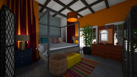 India Color inspired room - Bedroom  - by ashley_rose04