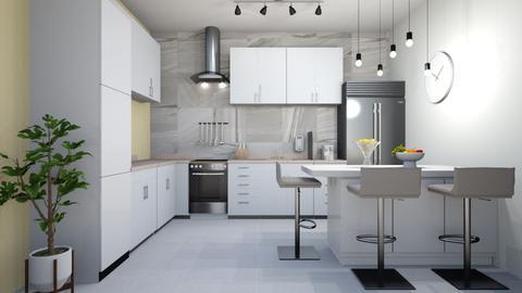 tan kitchen  - Modern - Kitchen  - by rcrites457