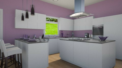 Purple Kitchen - Modern - Kitchen - by allilaz