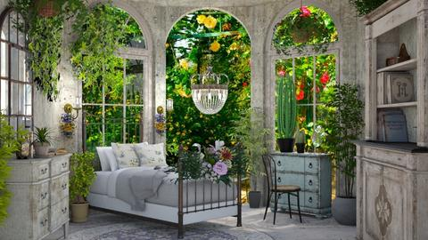 room with plants - by BibiMarton