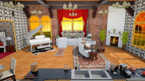 Farm Loft Retreat - Country - Living room  - by AshiraLevana