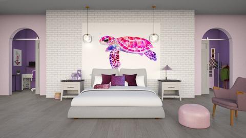 purple pink bedroom 1 - Bedroom  - by fullmoon13