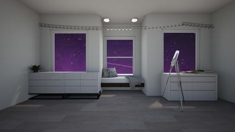 Night sky bedroom - Bedroom  - by Idkwhy