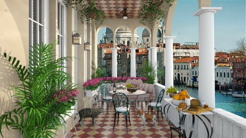 Venetian Balcony - Garden - by lydiaenderlebell