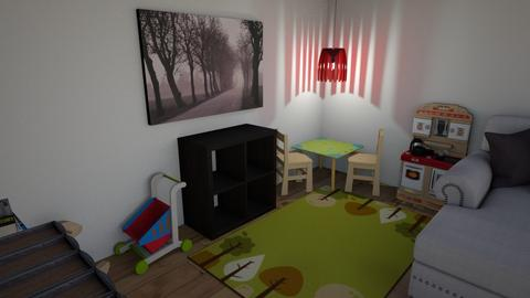 Basement - Living room  - by ksibbles