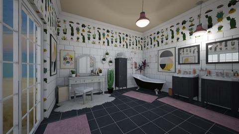 Cute Cactus Bathroom - Bathroom - by Jodie Scalf