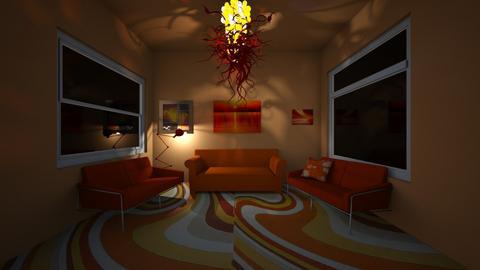 orange  - Living room  - by Elliott Ray