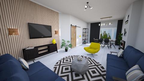 wlasny4 - Living room  - by annamcias