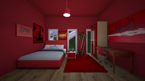 red room - Bedroom  - by MomoBeag