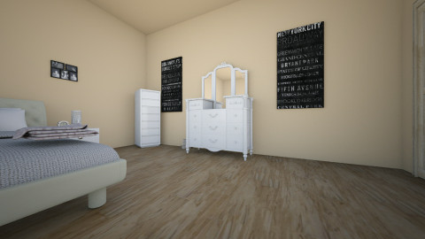 dream basement room - Feminine - Bedroom - by Clodia Kareen