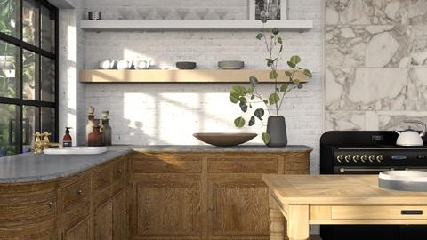 rustic kitchen one view - by annamarina