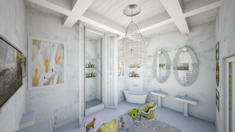 Yellow Suite Bath - Modern - Bathroom - by DiamondJ569