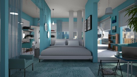 Blue Bedroom - Bedroom  - by JayPH