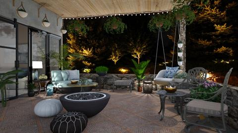 Small Living Patio - by  krc60