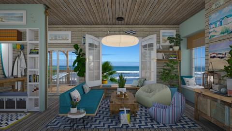 Surfs Up - Living room - by Nicky West