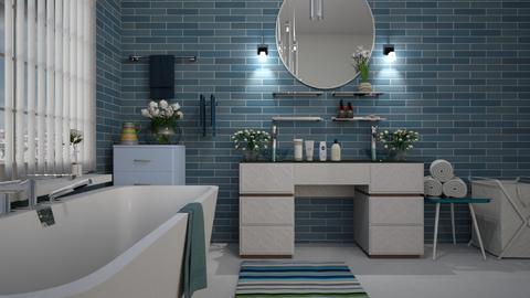 Blue_Wave - Bathroom  - by ZuzanaDesign