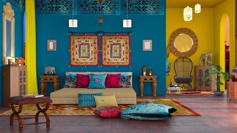 M_ Sleeping in India C - Bedroom  - by milyca8
