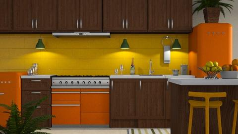 Vibrant Kitchen - Modern - Kitchen  - by millerfam