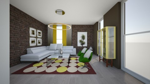 Template - Eclectic - Living room - by alvesss