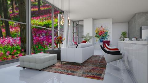 rose living - Living room  - by nihalruttala