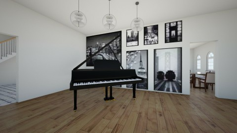 grand piano - Modern - Living room - by ahuvsters