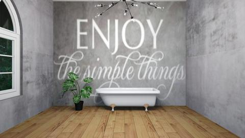 concrete  style bathroom - Bathroom  - by madaline