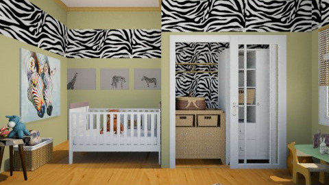 Wild Baby - Kids room  - by yonvie