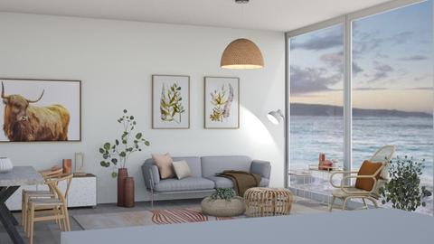 white and rattan - Living room  - by izzycant1