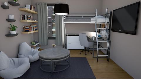 Cramped Dorm Room - Masculine - Bedroom - by lyrikkah