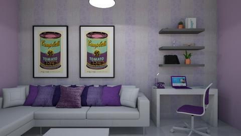 sala Morada - Living room  - by clasesytutorias