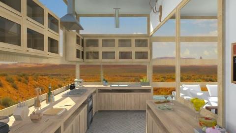 Desert Wood House Kitchen - Modern - Kitchen  - by giulygi