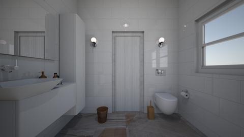 bathroom studio 1 - Minimal - by BlokhEphroni