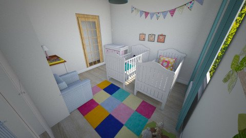 twins2 - Minimal - Kids room - by anzua