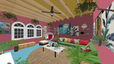 TROPICAL  INTERIOR DESIGN - Classic - Living room  - by merimaderin