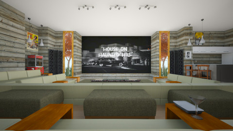 TV room - Modern - Living room  - by russ
