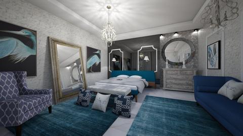 Blue_White - Bedroom  - by Nikos Tsokos