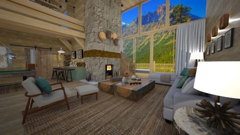 mountain cabin - Living room  - by Aurora Boreas