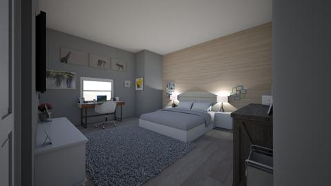 Modern teenage bedroom - Bedroom - by ryry0801