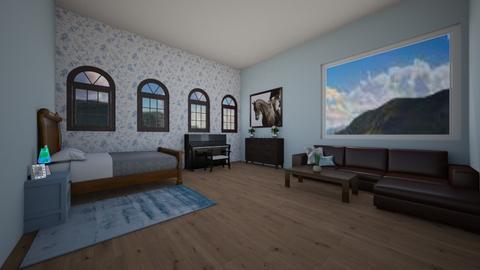 Mountain Cabin - Bedroom  - by BaylorBear