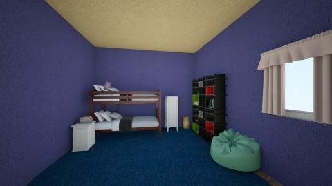 Simple kids bedroom  - Bedroom - by H_art