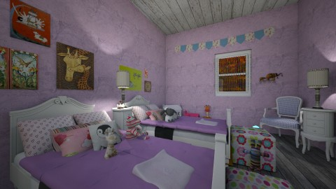 Autumn Cottage Kids Room2 - Rustic - Kids room  - by PippyLStocking