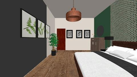 Tropical Woodland - Rustic - Bedroom  - by Justine_VH_26